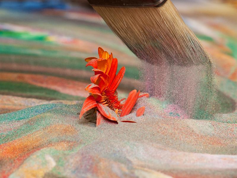 Peinture avec du sable for Peinture avec du sable